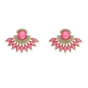 Imagem de Brinco leque com pedras natural pink - 0522620