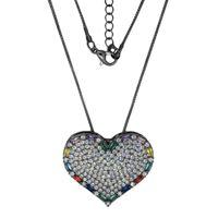 Imagem de Corrente coração com pedras zircônia - 0304826