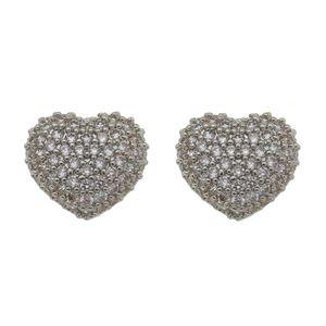 Imagem de Brinco coração pedras zircônia - 0521583*