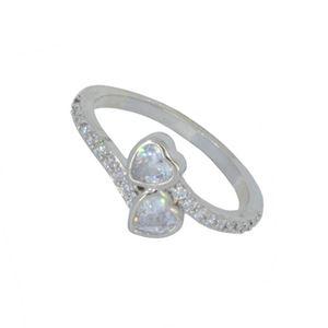 Imagem de Anel de coração com pedra zicônia - 0106735