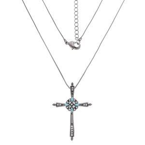 Imagem de Corrente pingente cruz pedra zircônia - 0304935