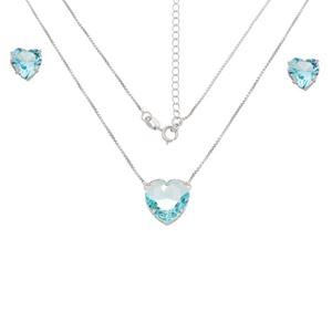 Imagem de Conjunto coração natural azul  - 1100949