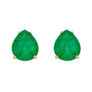 Imagem de Brinco pedra gota verde - 0523097