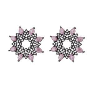 Imagem de Brinco flor pedras zircônia - 0522849*