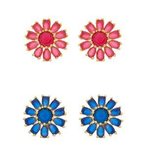 Imagem de Brinco flor com pedras - 0518634 Cores