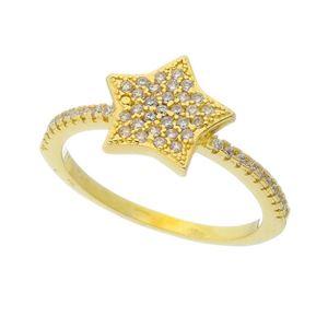 Imagem de Anel estrela com pedras - 0106764