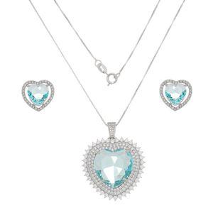 Imagem de Conjunto coração com pedras zircônia - 1100964
