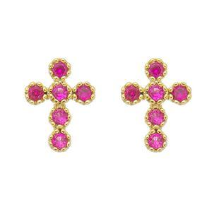 Imagem de Brinco cruz pedras zircônia - 0523012
