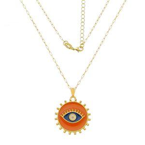 Imagem de Corrente olho grego laranja; 40cm - 0305078