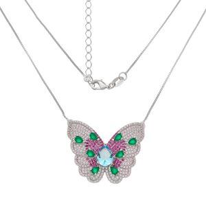 Imagem de Corrente borboleta zircônia; 40cm - 0304983 Cores