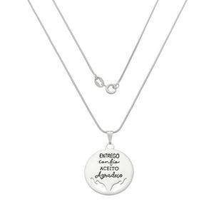 Imagem de Corrente medalha escrita; 45cm - 0305065