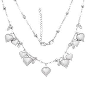 Imagem de Corrente coração e pedras zircônia; 44cm - 0305037