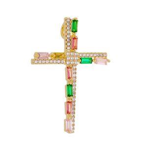 Imagem de Pingente cruz zircônia coloridas - 0207027
