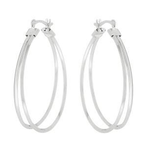 Imagem de Brinco argola oval 2 fios; 2,9cm - 0522923