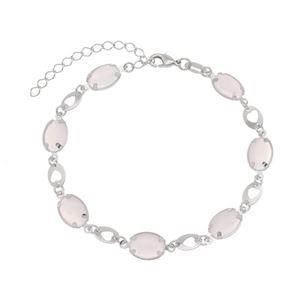 Imagem de Pulseira pedra oval rosa - 0405364