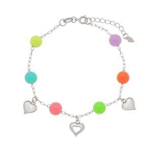 Imagem de Pulseira bolas coloridas e coração - 0405311
