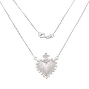 Imagem de Corrente coração com cruz; 42cm - 0305101