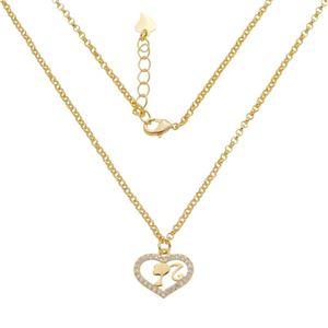Imagem de Corrente com coração e Barbie; 40cm - 0305090