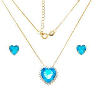 Imagem de Conjunto coração pedras de zircônia - 1100991