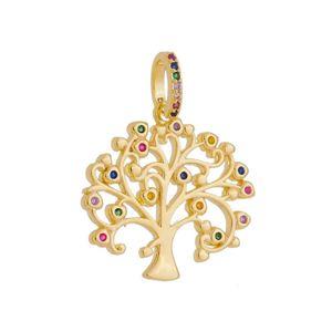 Imagem de Pingente árvore da vida pedras coloridas - 0207182