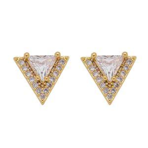 Imagem de Brinco triângulo com pedras zircônia - 0523368