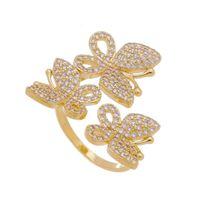 Imagem de Anel borboletas com pedras zircônia - 0106862