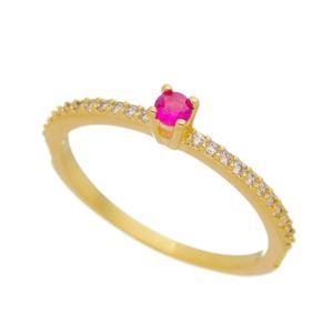 Imagem de Anel solitário pedra 3mm pink - 0106864