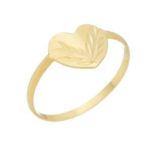 Imagem de Anel coração em chapa diamantada - 0106850