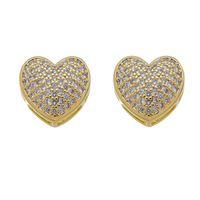 Imagem de Brinco coração pedras zircônia - 0522137