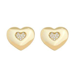 Imagem de Brinco coração com zircônia - 0523420