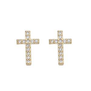 Imagem de Brinco cruz com pedras zircônia - 0523408