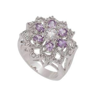 Imagem de Anel flor com pedras natural roxo - 0106903