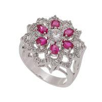 Imagem de Anel flor com pedras natural pink - 0106902