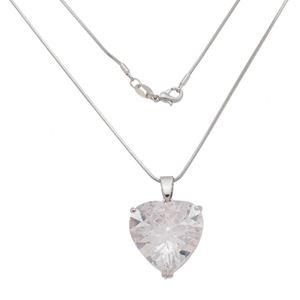 Imagem de Corrente pedra coração zircônia - 0305267