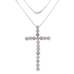Imagem de Corrente cruz com pedras coloridas - 0305263