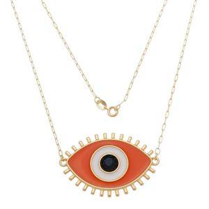 Imagem de Corrente olho grego resinado laranja - 0305277