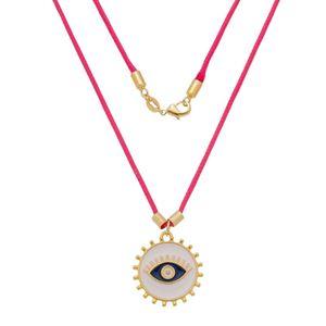 Imagem de Corrente fita pink e olho grego - 0305261