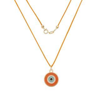 Imagem de Corrente fita com olho grego laranja - 0305260