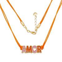 Imagem de Corrente fita laranja escrito Amor - 0305273