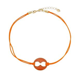 Imagem de Corrente choker fita laranja e búzio - 0305258