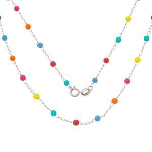 Imagem de Corrente com pedras coloridas - 0305198