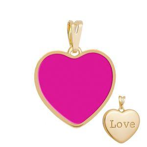 Imagem de Pingente coração resinado pink - 0207159