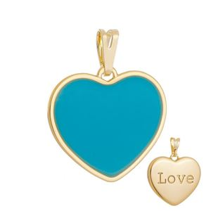 Imagem de Pingente coração resinado azul - 0207219
