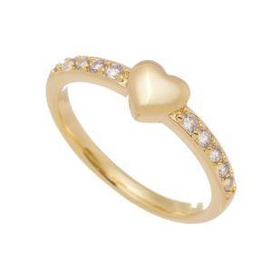 Imagem de Anel coração e pedras zircônia - 0106882