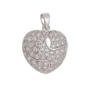 Imagem de Pingente coração com pedras zircônia - 0207222