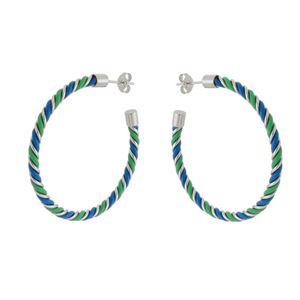Imagem de Brinco argola com fios colorido - 0523526