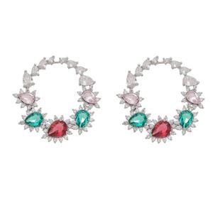 Imagem de Brinco com pedras natural colorido - 0523375 Cores