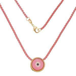 Imagem de Corrente rosa com olho grego - 0305359