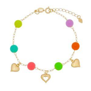 Imagem de Pulseira com bolas coloridas e coração - 0405482