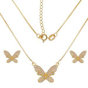 Imagem de Conjunto borboleta pedras zircônia - 1101013